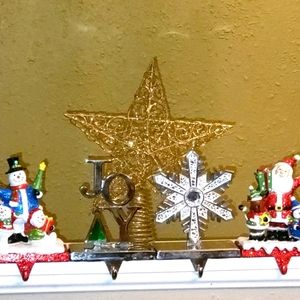 Christmas lot! Stocking hangers and Tree Topper